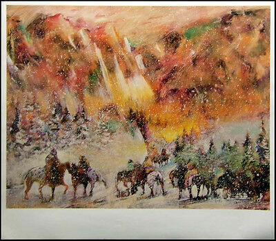 """Earl Biss """"Autumn Storm On The Crazy Woman Mountains"""" poster FREE SHIPPING!!"""
