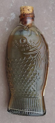 Wheaton  Bottle Original with inprinted fish on glass