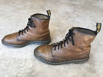 Dr. Doc Martens England Brown Crazy Horse Leather Ankle Boots 11 Uk - 12 Usa