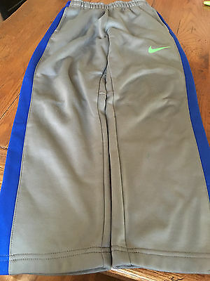 Nike Boys Therma-Fit Pull On Elastic Waist Gray Blue Pants size 7