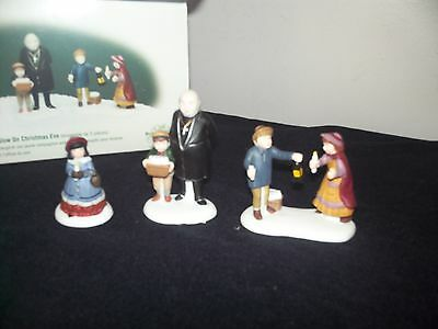 Dept 56 Dickens Village- A Peaceful Glow On Christmas Eve- 3Pc Set