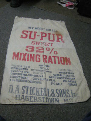Su-Pur Sweet Mixing Ration Stickell Hagerstown MD Sack