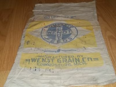 Vintage Complete Wendt Feed MICH Gilt Edge Feeds sack