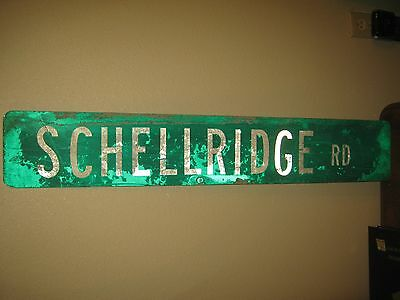 "Vintage ?  Aluminum Retired Street Sign SCHELLRIDGE RD  6"" x 36"""