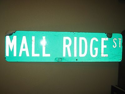 "Vintage ?  Aluminum Retired Street Sign MALL RIDGE ST 6"" x 24"""