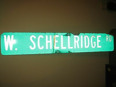 "Vintage ?  Aluminum Retired Street Sign W. SHELLRIDGE RD  6"" x 36"""