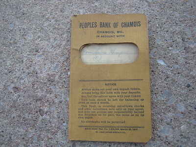 1917 Original Peoples Bank Of Chamois MO Missouri Bank book ??