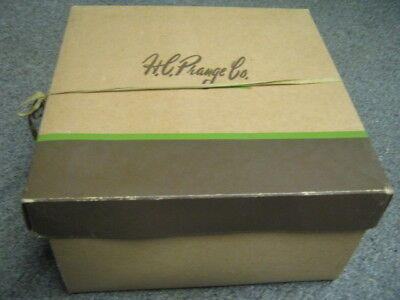 Vtg H L Prange Co Flesh? Brown Hat Box only good decor