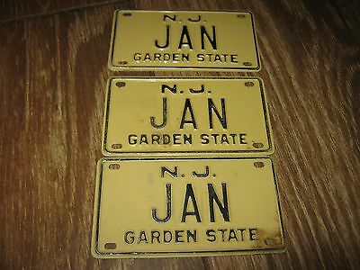 Mini Bike Jeanne Vanity Name License Plate Sign $9.50 each plate Vintage N J