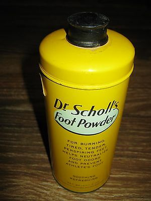 1948 Vinage Dr Scholl's Foor Powder 7 oz Advertising Can Tin