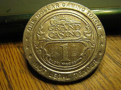 MS Grand Casino Biloxi Mississippi 1993 Vintage $1 Token Coin