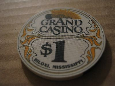 Vintage Grand Casino Biloxi Mississippi $1 Casino Chip