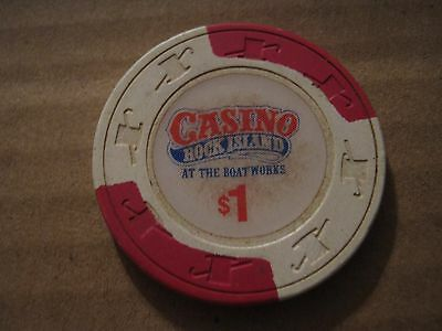 Vintage Rock Island Casino At The Boatworks $1 Casino Chip