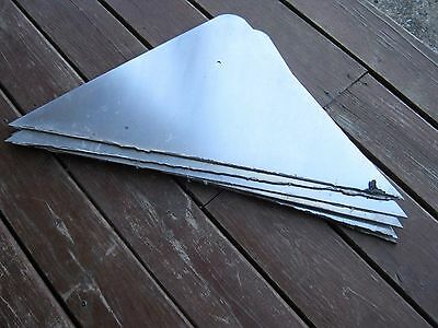 Vintage ? Aluminum Triangle Retired Street Sign but no name