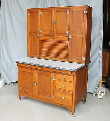 Antique Oak Seller's Kitchen Cabinet - Exceptional Original Condition