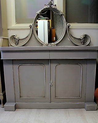 victorian mahogany chiffonier sideboard with mirror dressing table shabby chic
