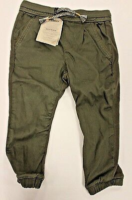 Zara Boy's Combined Jogging Trousers Green RP7 Size 4 NWT