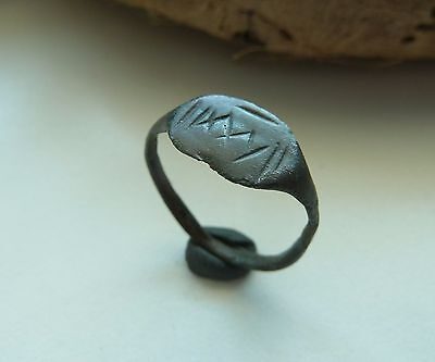 Medieval bronze ring  (158).