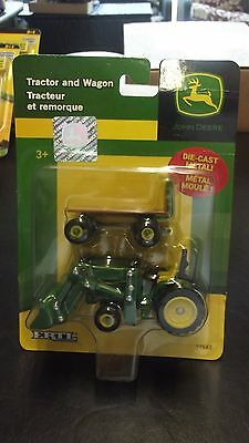 Ertl John Deere Die Cast Tractor And Wagon 37541 New On Card