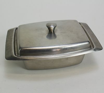 "2 Lidded Stainless Steel Steam Prep Table Hotel Pan Buffet 7x4.5x2"" - 10 oz"