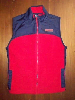 EUC GAP KIDS Fleece Full Zip Vest Jacket Youth Boys Girls XL 12  Red Navy