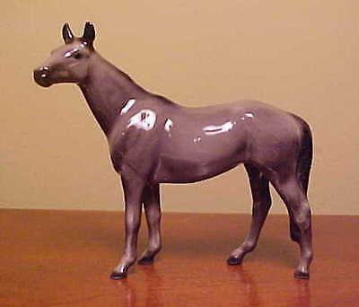 Hagen-Renaker #012 Mini NATIVE DANCER - Ceramic Thoroughbred Racehorse Figurine