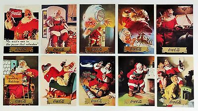 Coca Cola Santa Series 1 Gold Foil 10 Card Subset - 1993 - NEW