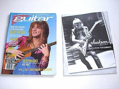 RANDY RHOADS magazine LOT of 2 GUITAR FOR THE PRACTICING MUSICIAN August 1990