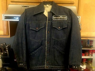 Vintage Goodyear Racing Apparel Denim Jacket
