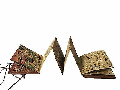 SALE Folding Ethiopian Ge'ez Magic Prayer Scroll : Ethiopia Manuscript