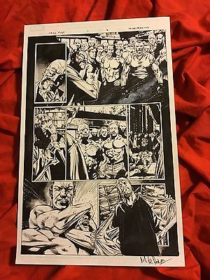 Iron Fist #1 Page #4~Original Published Art~Drawn/signed By Mike Perkins~Netflix