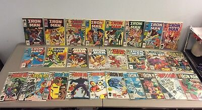 IRON MAN Marvel Comics Lot - Vintage 80's issues - 26 issues total