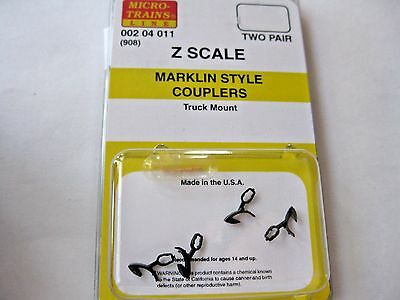 Micro-Trains Stock # 00204011 #908 Marklin Style Couplers Truck  Mount (Z Scale)