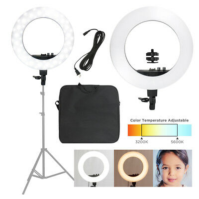 "Ring Light Diva Light Continuous Photo Lighting 18"" LED 50W Dimmable Photography"