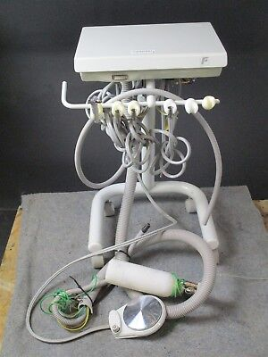 Forest Dental Delivery Cart w/ 3 Handpiece Connections & Air-Water Syringe