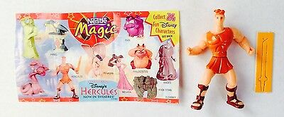 Nestle Magic Disney's Hercules Figure Mint w/ Paper Insert
