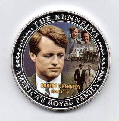 robert f kennedy 2009 silver plated american mint  commemorative medal