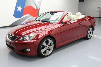 2010 Lexus IS C Convertible 2-Door 2010 LEXUS IS250 HARD TOP CONVERTIBLE VENT LEATHER 57K #502427 Texas Direct Auto