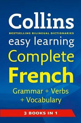 Easy Learning Complete French Grammar, Verbs and Vocabulary (3 books in 1) (Co,