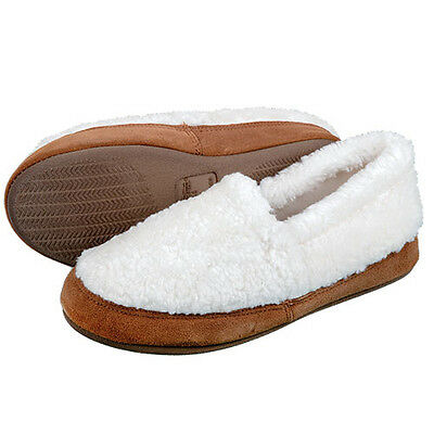 Tempur-Pedic Creme Puff Faux Fur/Leather Slippers - Women's 7M