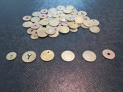 6 New York City Subway Tokens - Complete NYC Collection - 6 Tokens