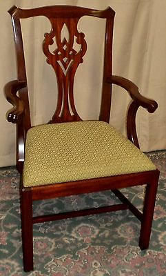 HENKEL HARRIS DINING ARM CHAIR Mahogany Chippendale Style #102