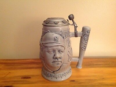 Babe Ruth Legend of the Century 1999 Avon Fine Collectibles Lidded Beer Stein