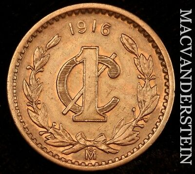 Mexico: 1916 One Centavo - Choice  Almost Uncirculated!!  Scarce!!  #h4102