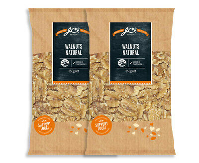 2 x J.C's Quality Foods Walnuts Natural 350g