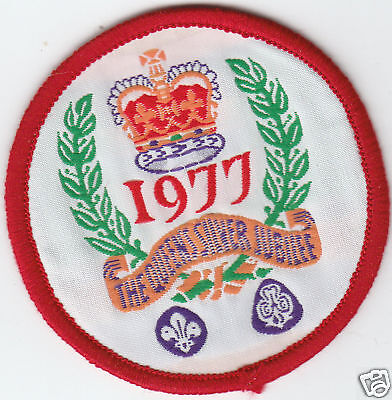 Boy Scout Badge 1977 THE QUEEN'S SILVER JUBILEE
