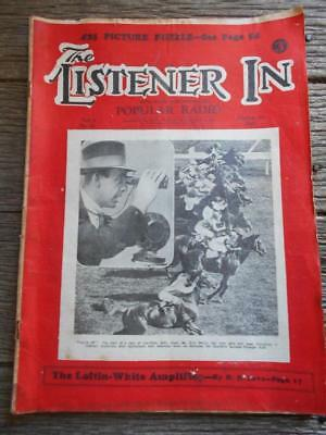 1930 Australia Listner In popular radio radios Melbourne Caulfield Horse Racing