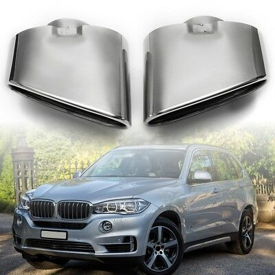 For BMW X5 E70 00-16 —Dual Exhaust End Pipe Muffler Tip Stainless Steel Chrome