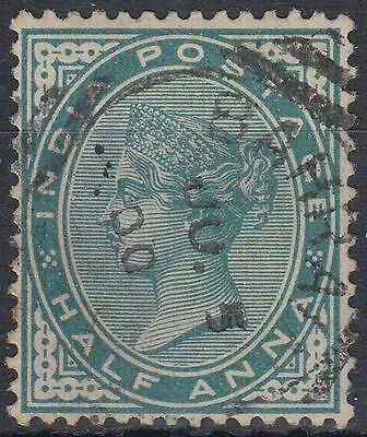 1900 India used in Bahrain, 1/2a blue green, SG# Z5a [sr3142]