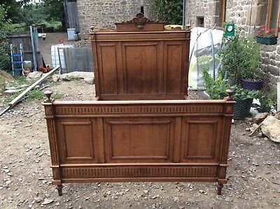 Antique Vintage French Double Bed (766)